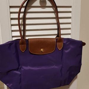 Authentic Longchamp pliage handle/flap(leather)